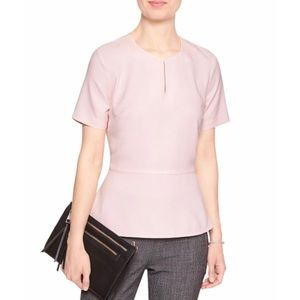 NWT Banana Republic Blush Pink Peplum Top M